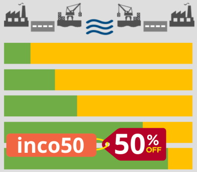Flash sale with 50% discount on our Incoterms training